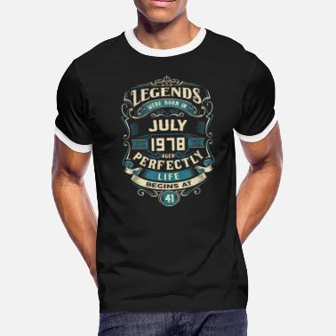 c75f2e52a July 1978 Retro Vintage July 1978 birthday - Men's Ringer T-. Men's  Ringer T-Shirt