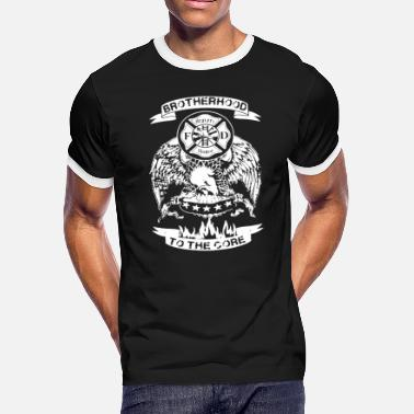 Brotherhood Clothing Firefighter Brotherhood To The Core Shirt - Men's Ringer T-Shirt