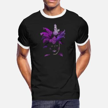 Lilac lilac face - Men's Ringer T-Shirt