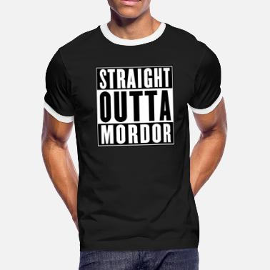 Bilbo Baggins STRAIGHT OUTTA MORDOR - Men's Ringer T-Shirt