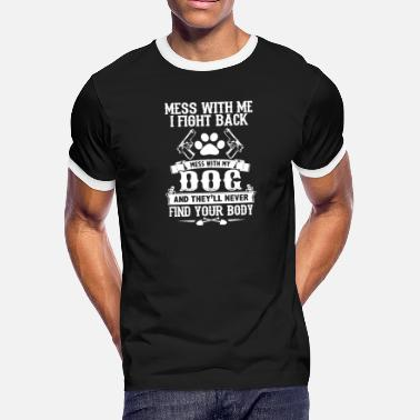 Gun Dog threat dog gun fighting dog growling dog - Men's Ringer T-Shirt