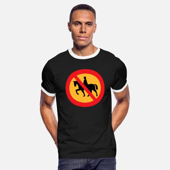 Mare T-Shirts - reiten riding pferde horse knight reiter rider165 - Men's Ringer T-Shirt black/white