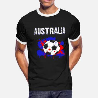 480503837 Australia Soccer Shirt Fan Football Gift Cool - Men's Ringer T-. Men's  Ringer ...