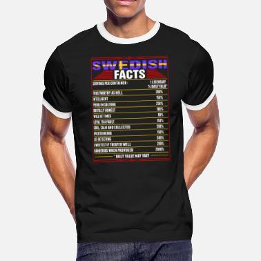 eca64b54 Swedish Funny Swedish Facts Tshirt - Men's Ringer T-Shirt