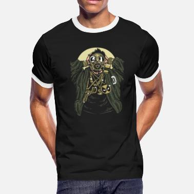 Gangsta Chain Gangsta Gasmask and Bling Bling - Men's Ringer T-Shirt