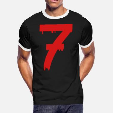 Age lucky number seven - Men's Ringer T-Shirt