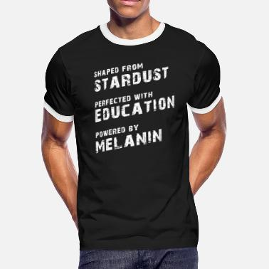 Month Stardust Education Melanin Black Pride - Men's Ringer T-Shirt