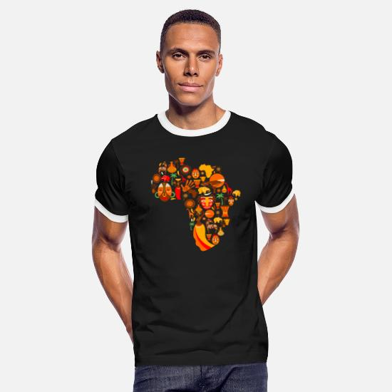 Africa T-Shirts - Africa - Men's Ringer T-Shirt black/white