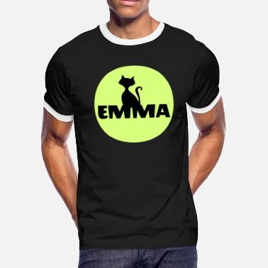First Name Initial Emma first name - Men's Ringer T-Shirt