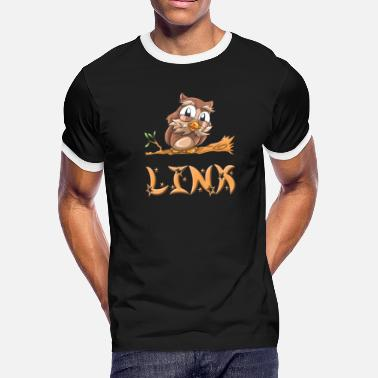 Linke Link Owl - Men's Ringer T-Shirt