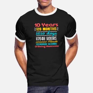 10 Year Old 10th Birthday Gift T Shirt Years Being Awes