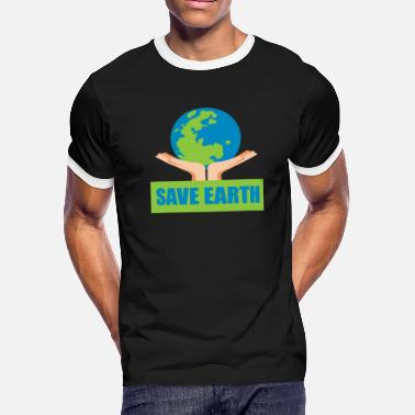 Pollution Save Earth, Earth Day - Men's Ringer T-Shirt