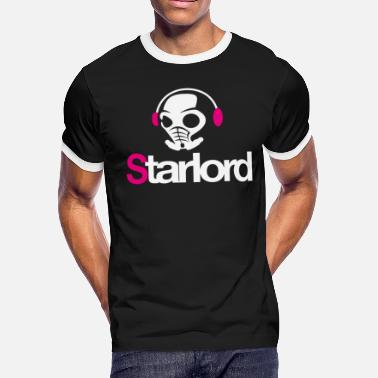 Starlord Headphone Picture - Men's Ringer T-Shirt