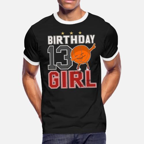 13 Year Old Dabbing Bday Baskteball Girl 13th Gift