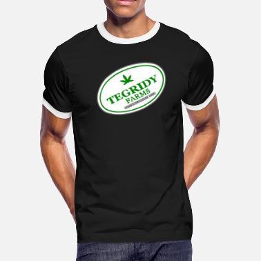 176a3e8b 100 Hemp Tegridy Farms TEGRIDY FARMS 100% HEMP TEGRIDY FARMS PARODY FUN -  Men&#. Men's Ringer T-Shirt