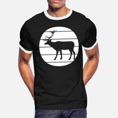 Deerskin Noble deer in the forest - Men's Ringer T-Shirt