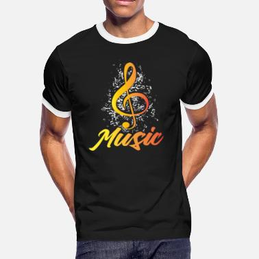Treble Music Treble Clef - Men's Ringer T-Shirt