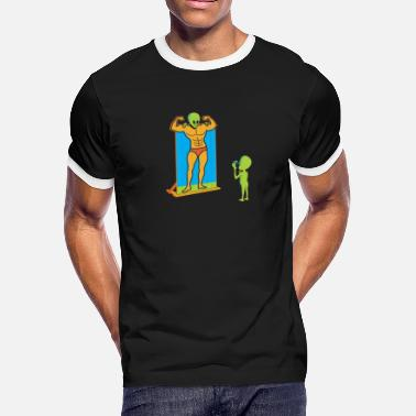 Booth alien theme park photo booth - Men's Ringer T-Shirt