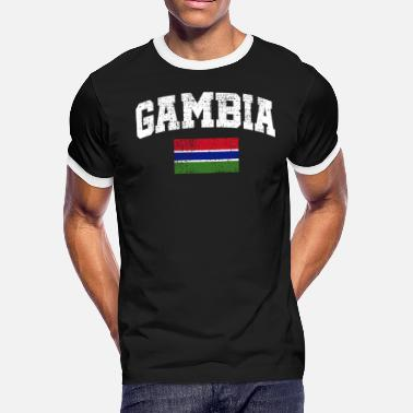 Gambia Flag Gambia flag - Men's Ringer T-Shirt