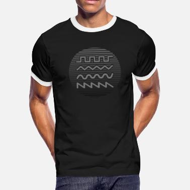 Waveforms of Synthesizer - Men's Ringer T-Shirt