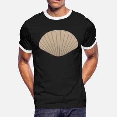 Scallop Shell Conch Clam Mussels Mussel Gift Cower - Men's Ringer T-Shirt