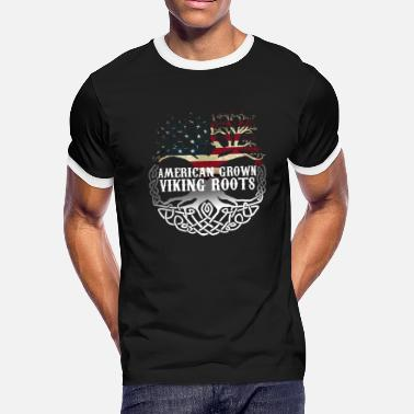 Viking Dad ORIGINAL American Grown With Viking Roots - Men's Ringer T-Shirt