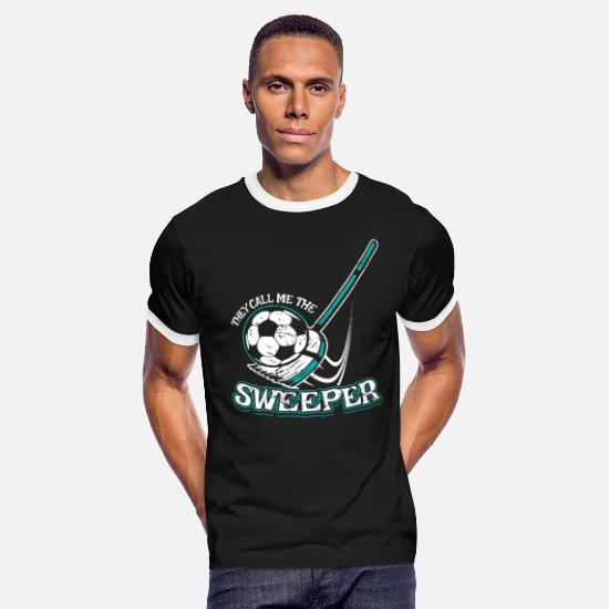 Defense T-Shirts - Funny Soccer Gift for Soccer Coaches, Players and - Men's Ringer T-Shirt black/white