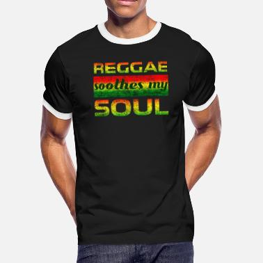 Dancehall Clothing Reggae Soothes My Soul Reggae Rastafari Tshirt - Men's Ringer T-Shirt