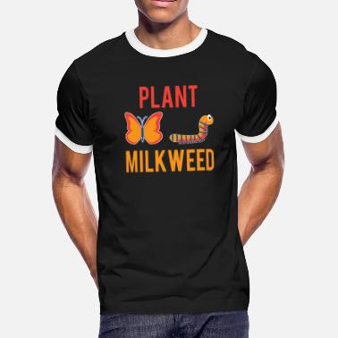 Monarchy Women's Monarch Butterfly Plant Milkweed Caterpill - Men's Ringer T-Shirt