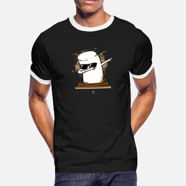Marshmallow Dj Cool Marshmallow Gift - Men's Ringer T-Shirt