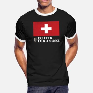 Swiss German Real Swiss Patriot Switzerland (Swiss-German) - Men's Ringer T-Shirt