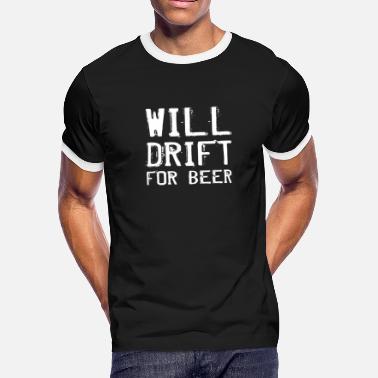 d1a12726d Drift Car Will Drift For Beer Funny RC Car Drifting Design - Men'.  Men's Ringer T-Shirt