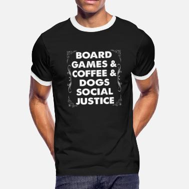 Board Game Board Games Coffee Dogs Social Justice - Men's Ringer T-Shirt