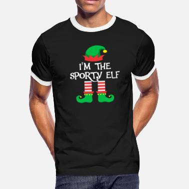 Sporty I m The Sporty Elf Matching Family Group Christmas - Men's Ringer T-Shirt