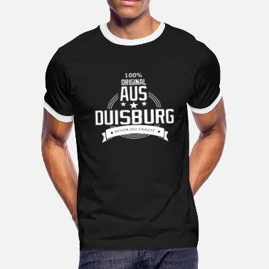 Imprint City Duisburg my city Germany - Men's Ringer T-Shirt