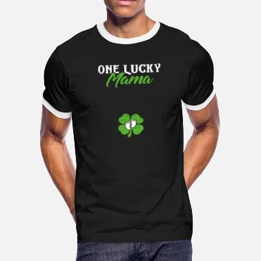 0eb8025a One Lucky Mama St Patricks Day Pregnancy - Men's Ringer T-