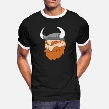 Scandinavia Viking head, Barbarian, Scandinavia - Men's Ringer T-Shirt