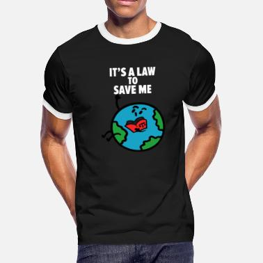 Save The World Save Planet - Men's Ringer T-Shirt