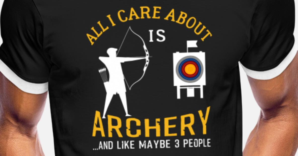 1cc6973864 Archery And Beer Funny Gift Men's Ringer T-Shirt | Spreadshirt
