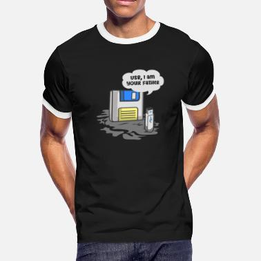 Usb FLOPPY DISK /USB KEYS / NERD: Usb I am Your Father - Men's Ringer T-Shirt