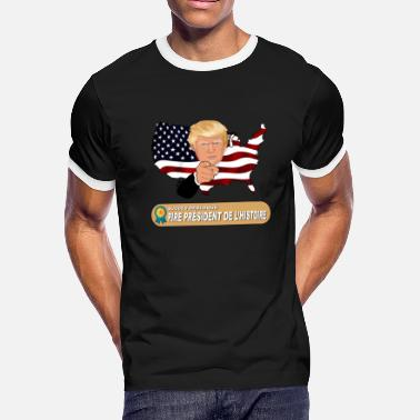 Defeat Donald Trump, worst president in history - Men's Ringer T-Shirt