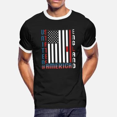 Half British Half USA, Half British - Men's Ringer T-Shirt