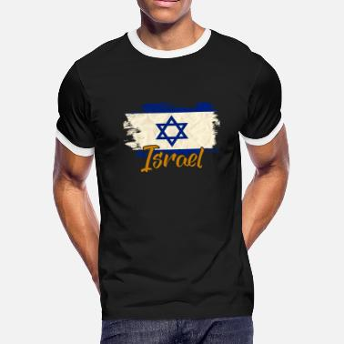 Israel In Hebrew Israel - Men's Ringer T-Shirt