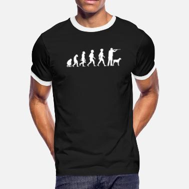 Evolution Of Hunting Evolution Hunting Hunter Hunt Dog - Men's Ringer T-Shirt