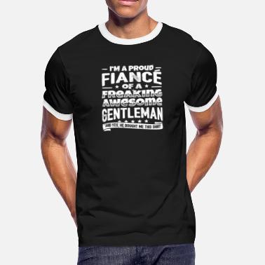 ab2319fb Funny Engagement Funny Fiance Gift Hilarious Family Fun Joke - Men's  Ringer. Men's Ringer T-Shirt
