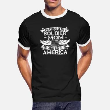 Daughter Of A Soldier Soldier Mom Support Proud Son Daughter Gift - Men's Ringer T-Shirt