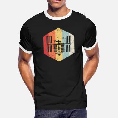 International Space Station Retro ISS International Space Station Icon - Men's Ringer T-Shirt