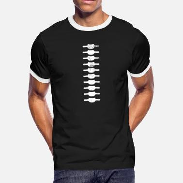 Cord Emo Spinal Cord Skeleton - Men's Ringer T-Shirt