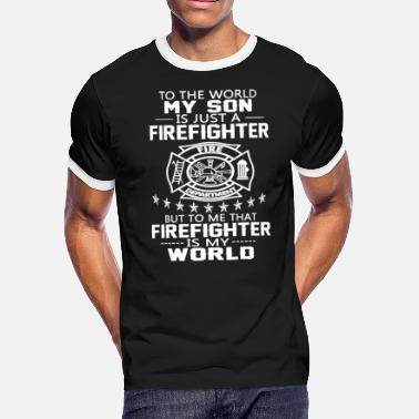My Son Firefighter MY SON IS FIREFIGHTER - Men's Ringer T-Shirt