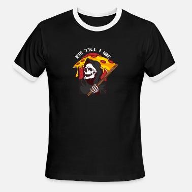 12dec4c64 Grim Reaper Pizza Pie Till I Die Funny Pizza Shirt Men's Premium T ...